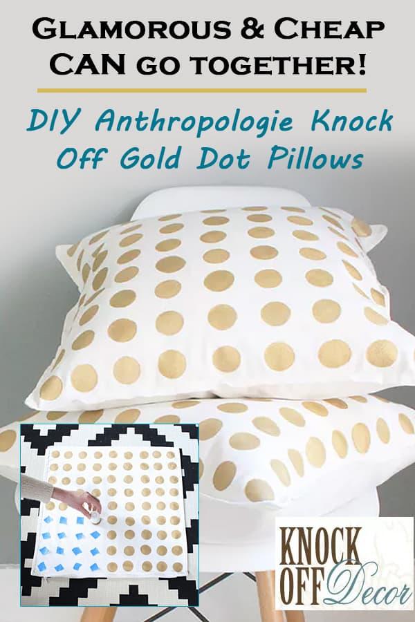Gold pillow knock-off tutorial