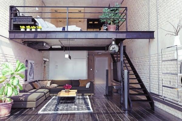 loft with art example
