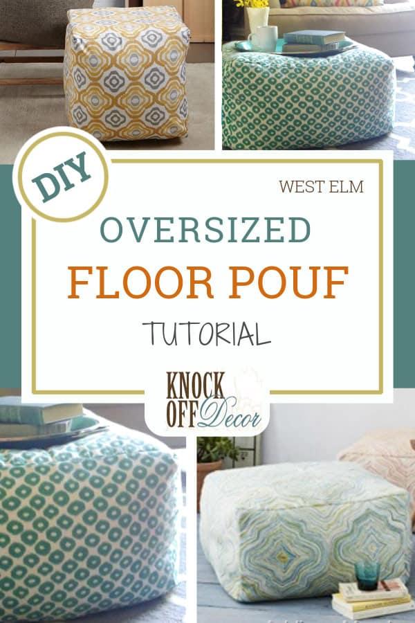 oversized floor pouf pin