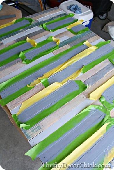 Wall pallet artwork prep