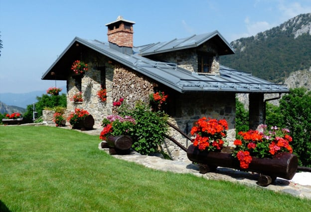 Add landscaping to cottage