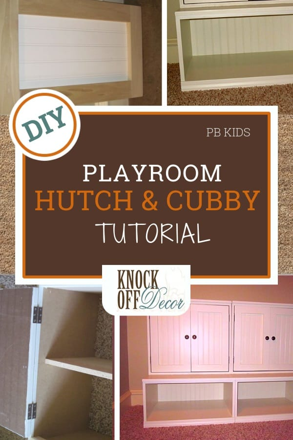 Playroom Cubby Storage with Hutch - KnockOffDecor.com