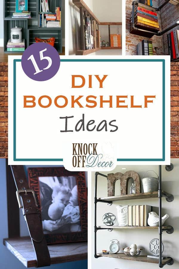15 Best DIY Bookshelf Ideas