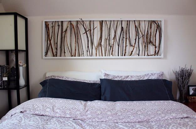 DIY Framed Branch Art