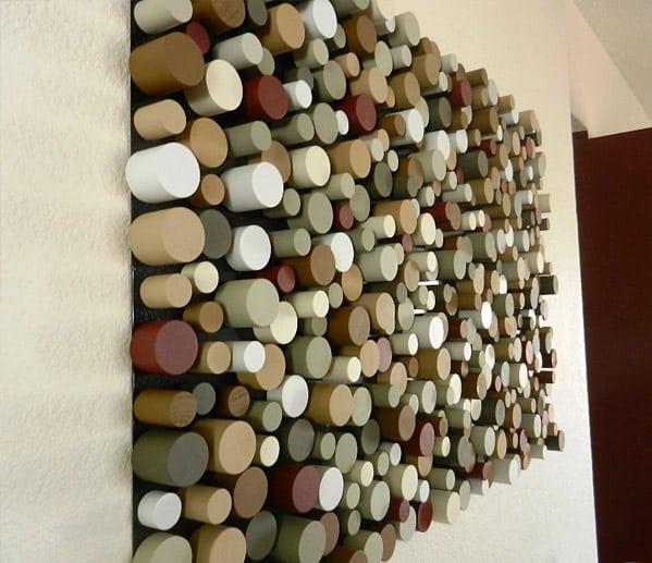 Cylinder Artsy Wall Piece