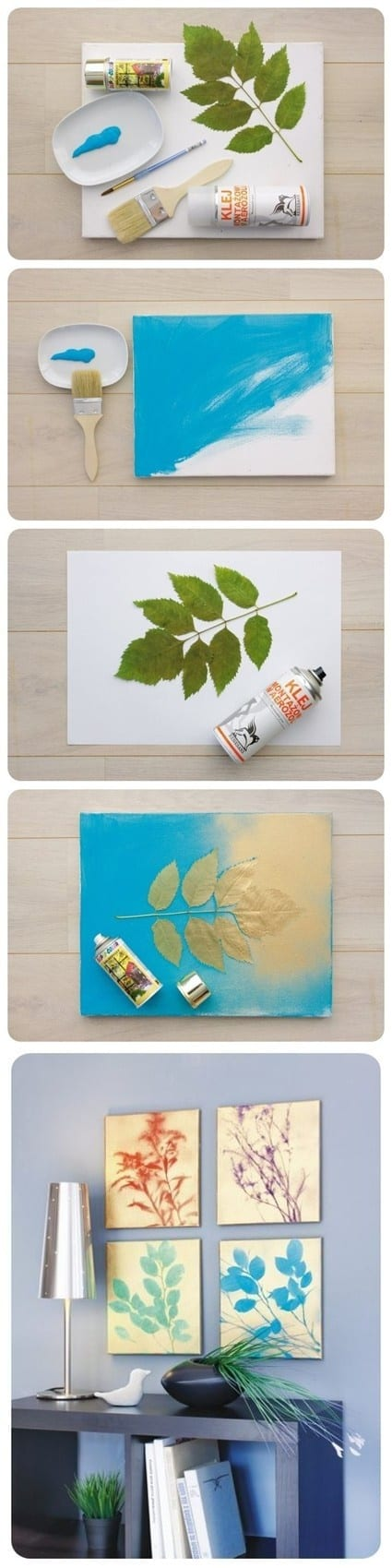 Painted Plant Wall Art