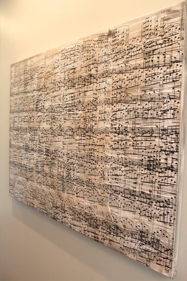 Giant Canvas Made with Sheetmusic