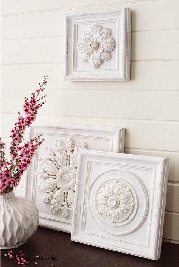 Distressed Wood Wall Carvings