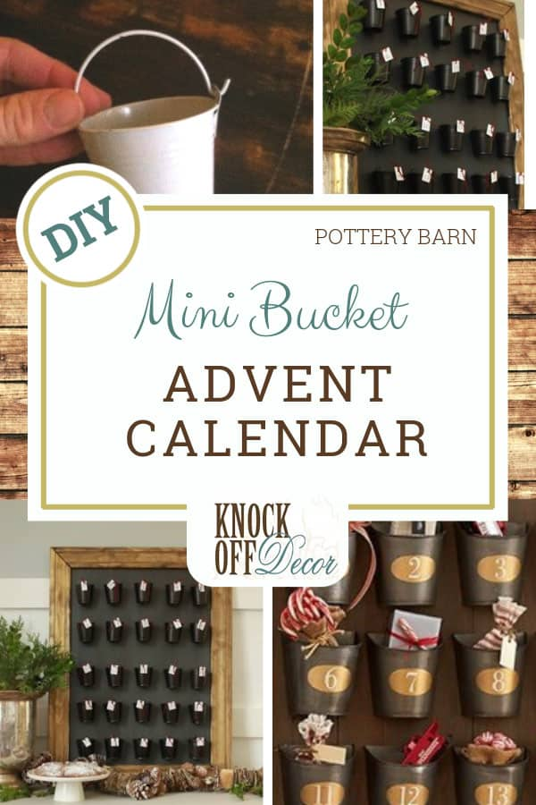 Mini Bucket Advent Calendar Knockoffdecor Com