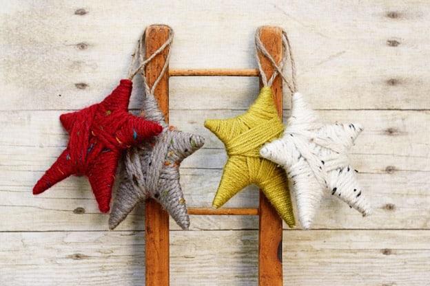 yarn-stars-ornaments