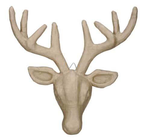 Paper deer head