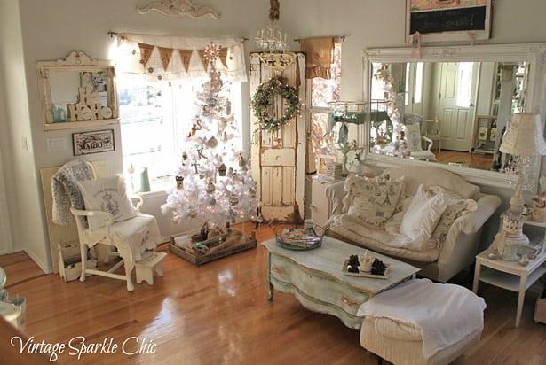 vintage-christmas-living-room-decor