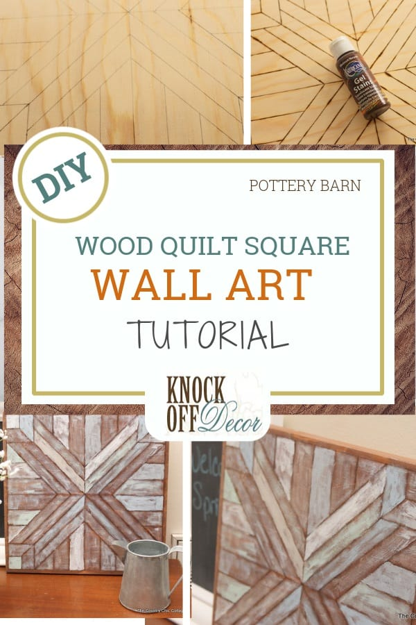 Wood Quilt Square Wall Art No Cutting Required