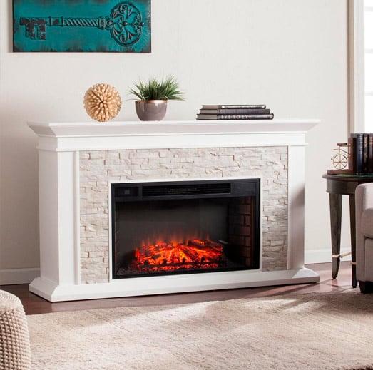 faux-fireplace