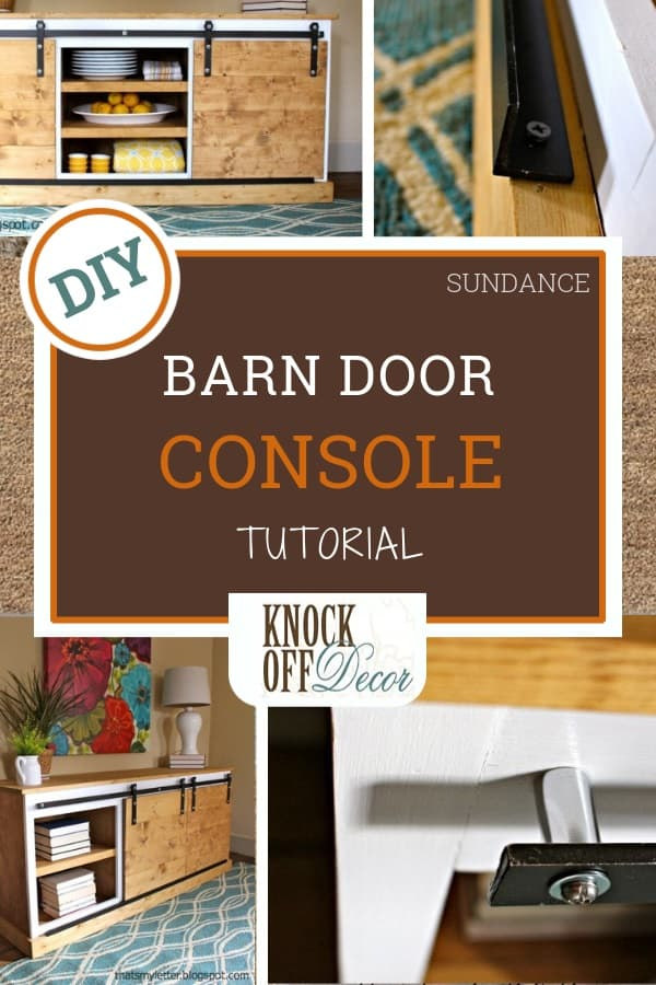 Sliding Barn Door Console Table Knockoffdecor Com