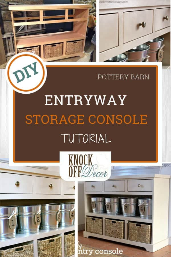 Entryway Storage Console That Has It All Knockoffdecor Com
