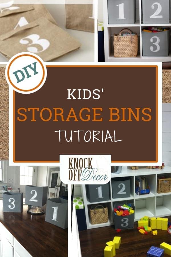 Kids Playroom Storage Cubes