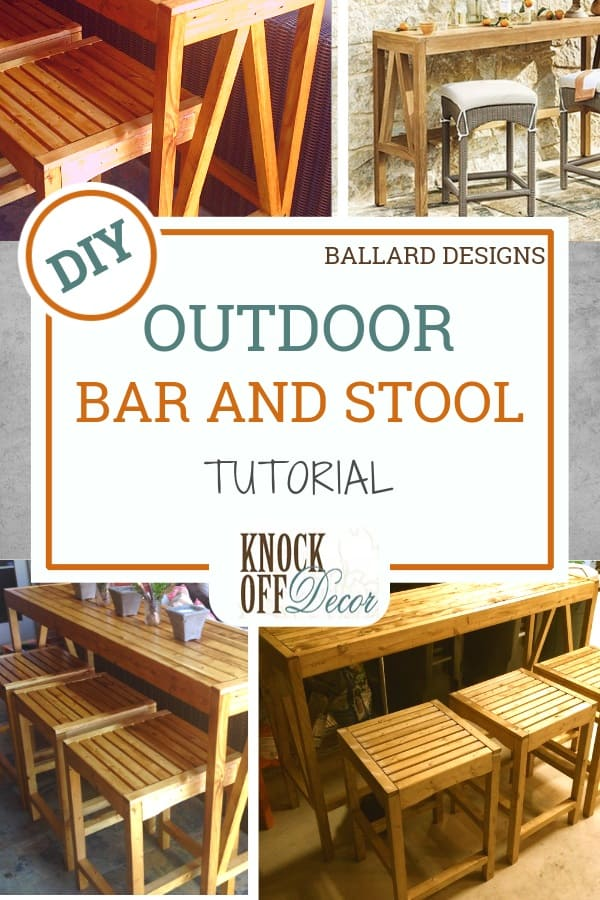 Magnificent Outdoor Bar Console And Counter Stools Knockoffdecor Com Pabps2019 Chair Design Images Pabps2019Com
