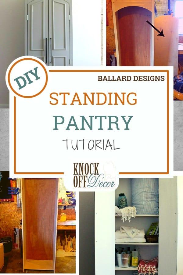 Gorgeous Diy Freestanding Pantry, Kitchen Pantry Cabinet Ballard Designs
