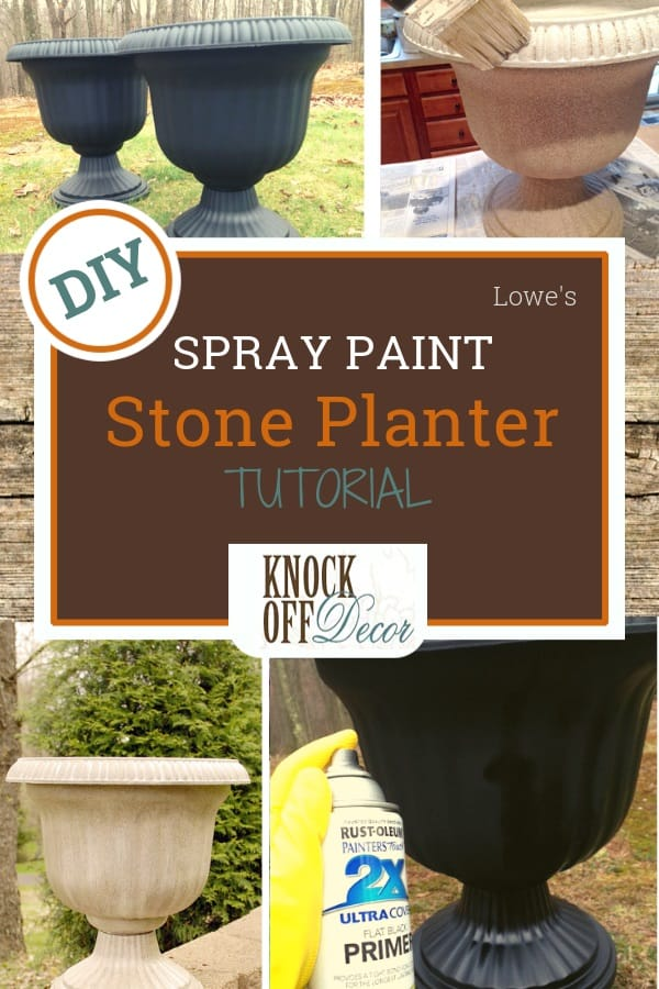 Cheap Planter To Stone Planter With Spray Paint