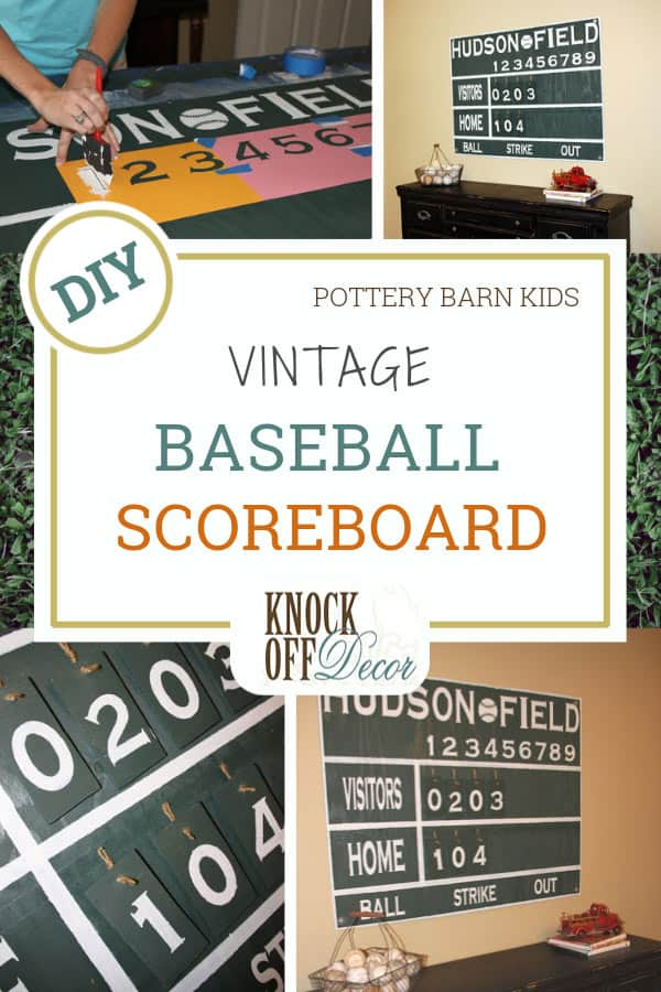 Vintage Baseball Scoreboard Wall Decor - KnockOffDecor.com