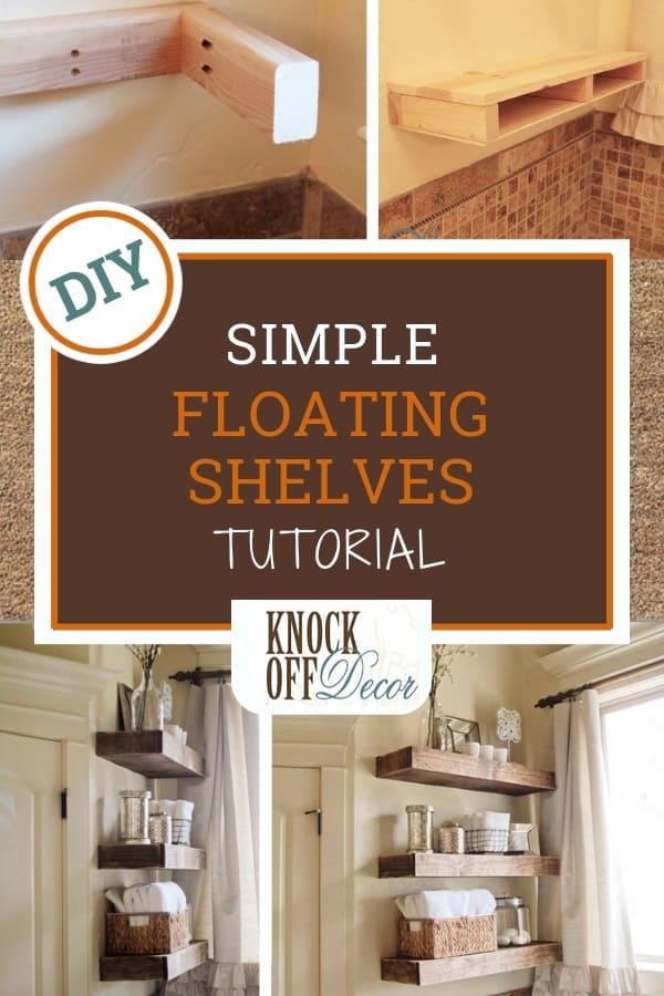 Super Simple Floating Shelves Knockoffdecor Com