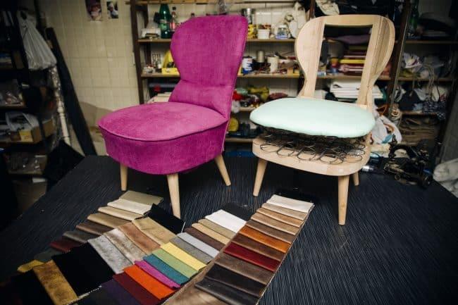 Furniture reupholster