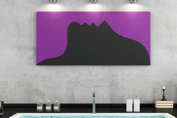 artwork in bathroom