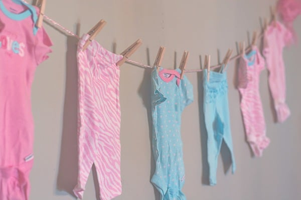 baby clothes banner
