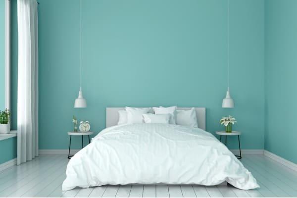 cadet blue bedroom