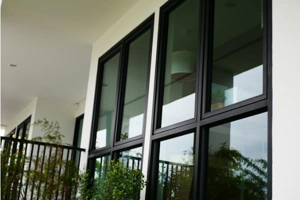 coated window ensures privacy
