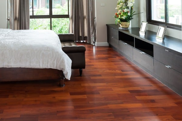 floor made of bamboo