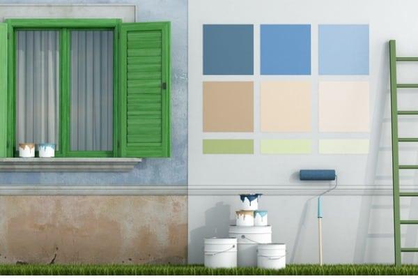 multi-colored palettes