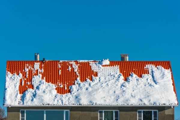 roof covered in snow