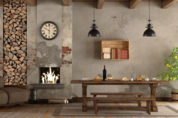 rustic brick wall in your dining