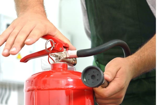 using of fire extinguisher