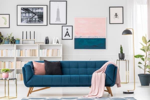 gallery art in living room