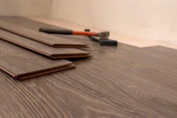 laying laminate on the floor