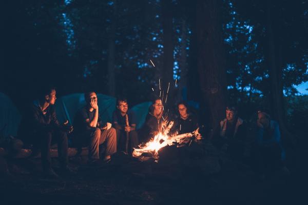 camping during night