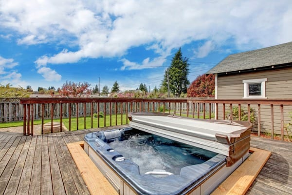 hot tub in your backyard