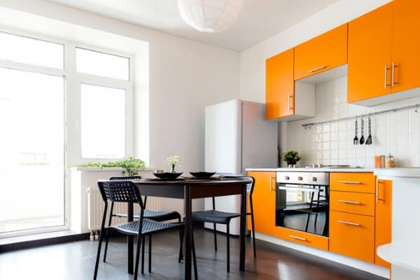 Orange kitchen color
