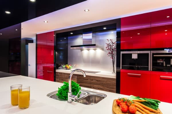 spicy red kitchen