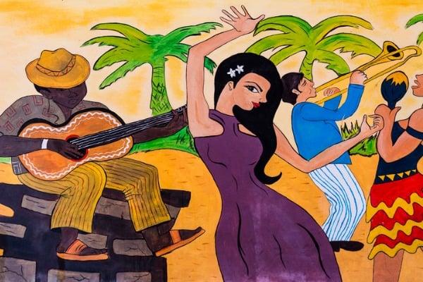 cuban wall mural idea