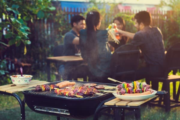 late afternoon bbq party