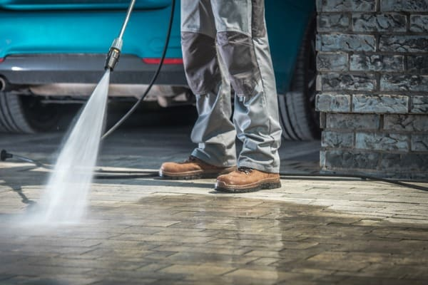 pressure washer cleaned your driveway
