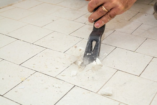 removing tiles