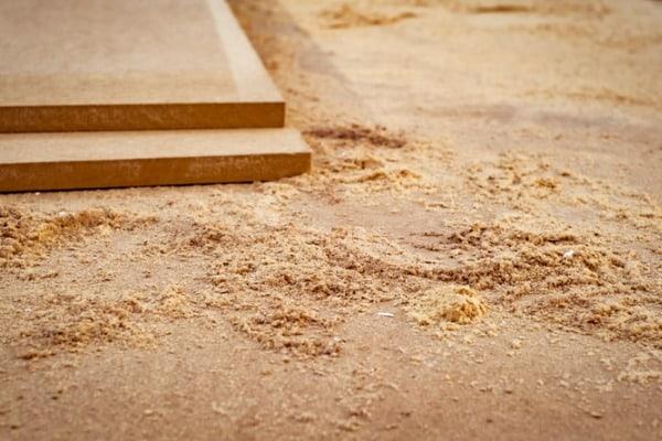 woodworking create sawdust