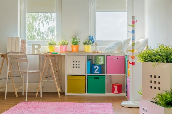 colorful decoration study room