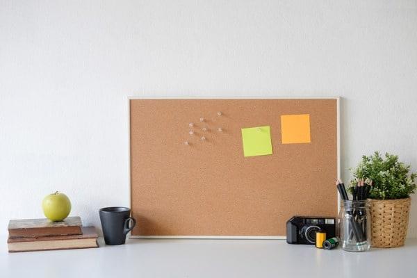 corkboard walls