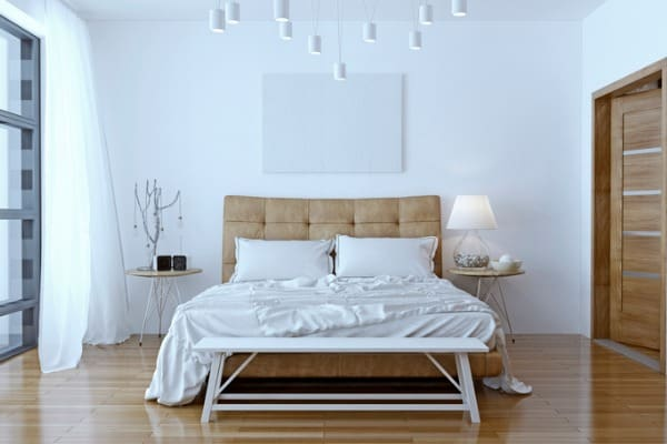 headboard in bedroom
